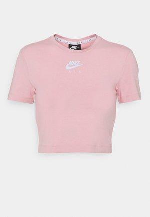 AIR TOP CROP - Print T-shirt - pink glaze/white