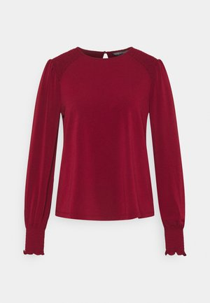 SMOCK SHOULDER - Long sleeved top - brick