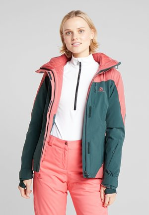 ICEROCKET - Ski jacket - green gables/garnet rose
