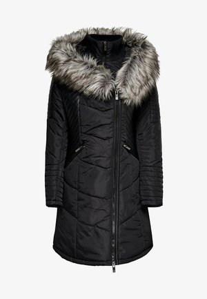ONLLINETTE HOOD COAT - Wintermantel - black