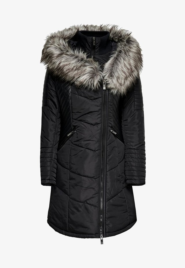 ONLLINETTE HOOD COAT - Winterjas - black