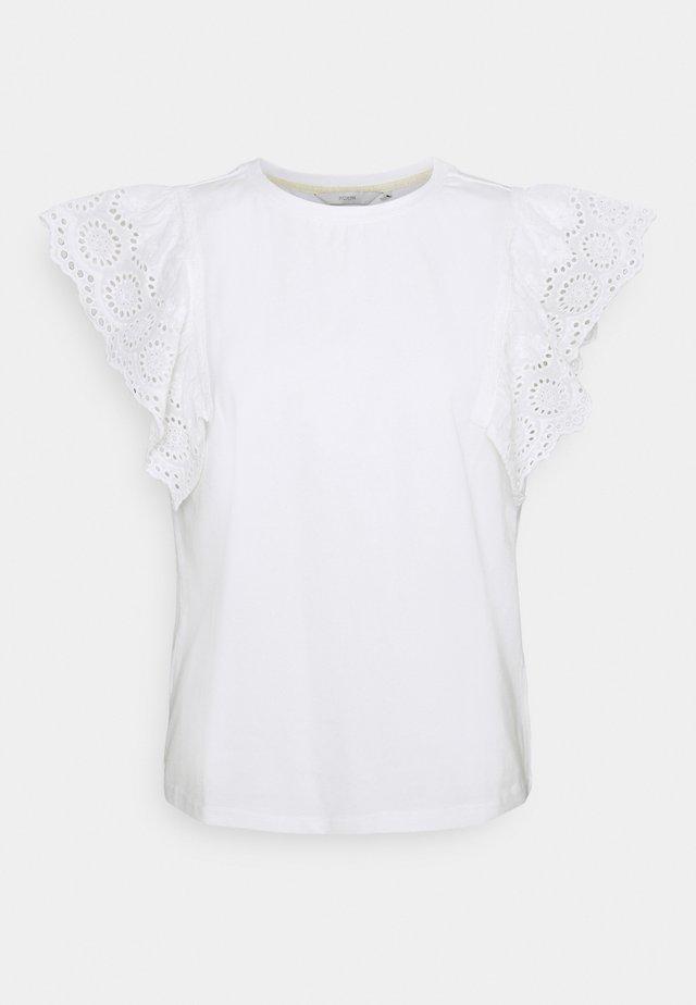 NUCLIO TEE - Printtipaita - bright white