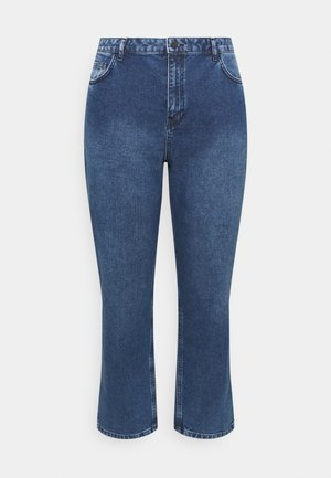 HIGH RISE - Straight leg jeans - mid blue wash