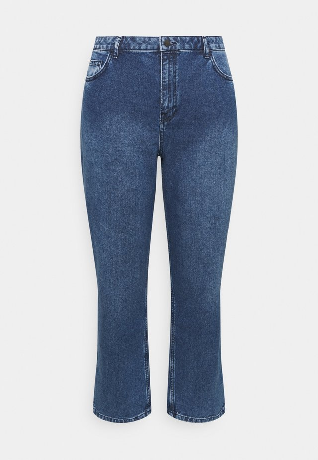 HIGH RISE - Jeans a sigaretta - mid blue wash