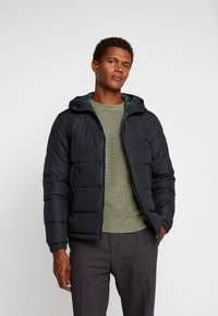 Tommy Hilfiger - HOODED REDOWN BOMBER - Down jacket - black - 3
