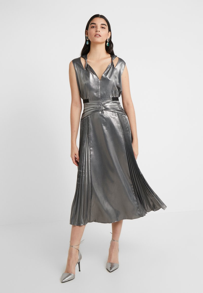Three Floor - MERCURY DRESS - Vestido de cóctel - pewter metallic