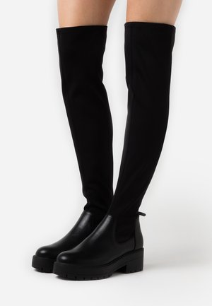 ONLBRANKA LONG SHAFT BOOT  - Over-the-knee boots - black