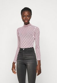 Missguided Tall - FLOCKED SPOT - Long sleeved top - baby pink - 0