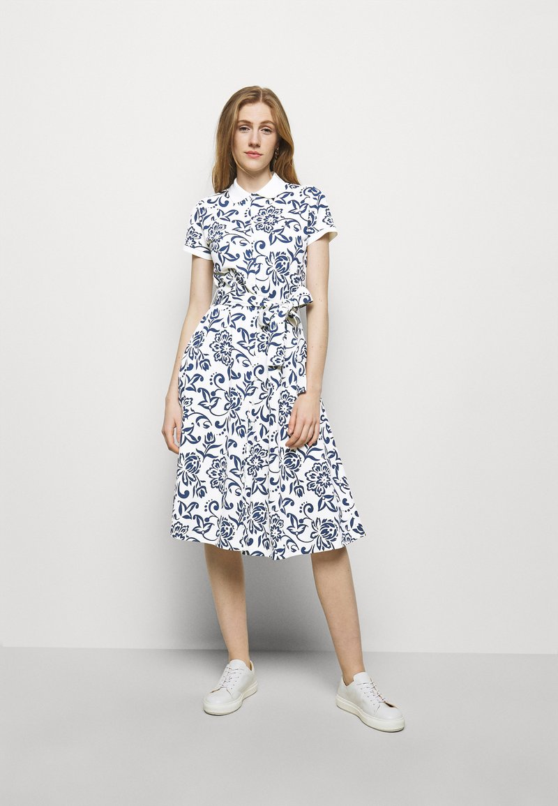 Polo Ralph Lauren - Shirt dress - white/dark blue