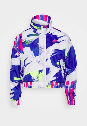 JACKET - Trainingsjacke - white/sapphire/hot lime/pink foil