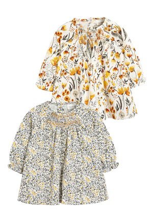2 PACK SMOCK FLORAL TUNIC - Tunique - off-white