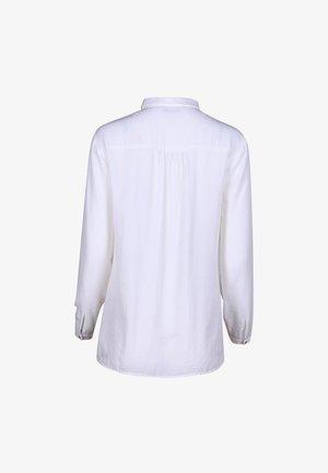 BLUSE FINO MIT FEMININER STICKEREI - Button-down blouse - white