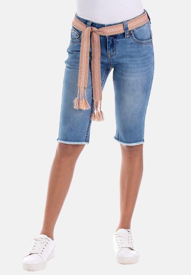 MELODY - Denim shorts - blau