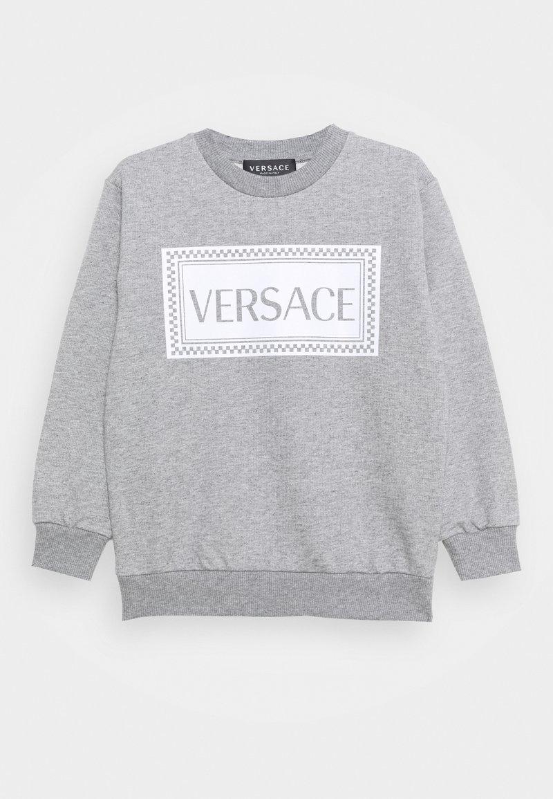 Versace - PRINT LOGO SHOW FULL UNISEX - Sweatshirt - grey melange/white