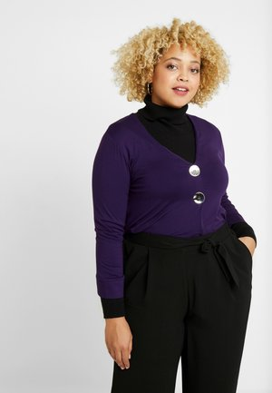 BUTTON DETAIL - Long sleeved top - purple