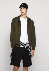 Polo Ralph Lauren - DOUBLE-KNIT FULL-ZIP HOODIE - Tröja med dragkedja - company olive - 4