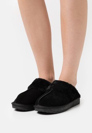 WIDE FIT AUBREE - Pantoffels - black