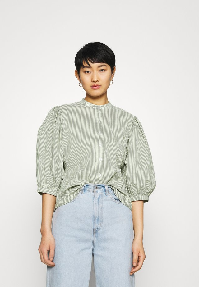 CRINCKLE POP SIGGA - Overhemdblouse - army/off-white