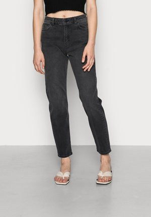 HIGH RISE MOM JEANS - Straight leg jeans - black wash