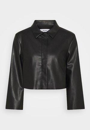 VEREL - Faux leather jacket - black