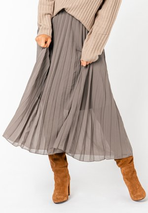 A-line skirt - dark beige
