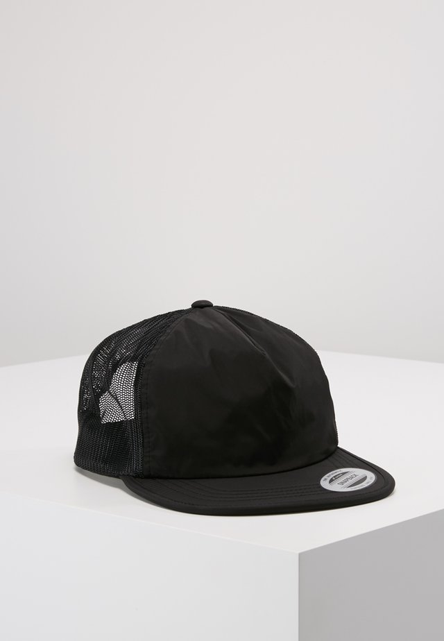 UNSTRUCTURED SOFT VISOR TRUCKER SNAPBACK - Kšiltovka - black