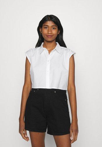 JESSIE - Button-down blouse - white solid