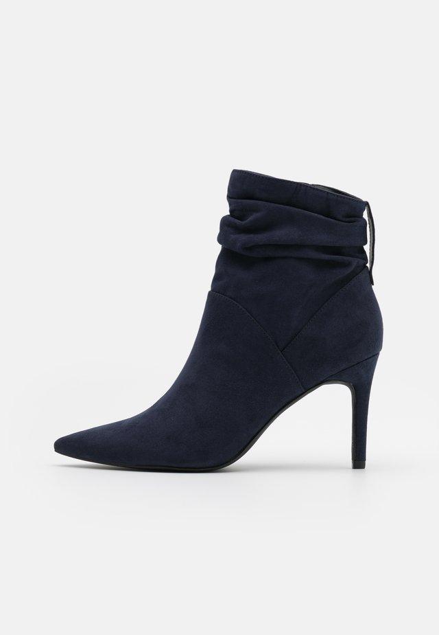 High Heel Stiefelette - dark blue