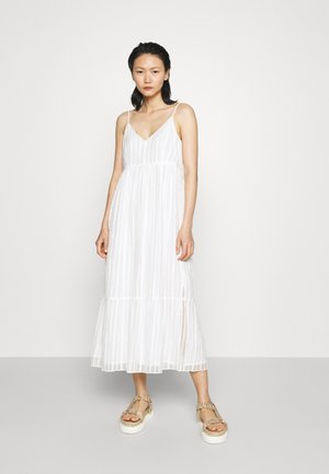 TIERED DRESS - Day dress - white