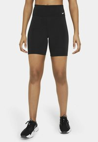 Nike Performance - ONE SHORT - Tights - black/white - 2