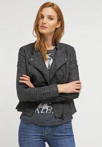 ONLY - ONLAVA BIKER  - Faux leather jacket - black - 3