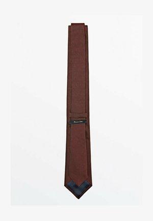 MIT STRUKTURMUSTER  - Cravatta - bordeaux