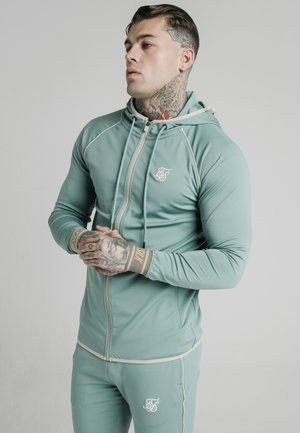 Zip-up hoodie - light petrol blue