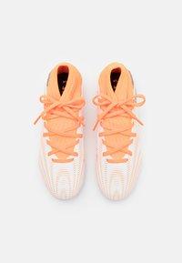 adidas Performance - NEMEZIZ .3 FG UNISEX - Moulded stud football boots - footwear white/core black/screaming orange - 3