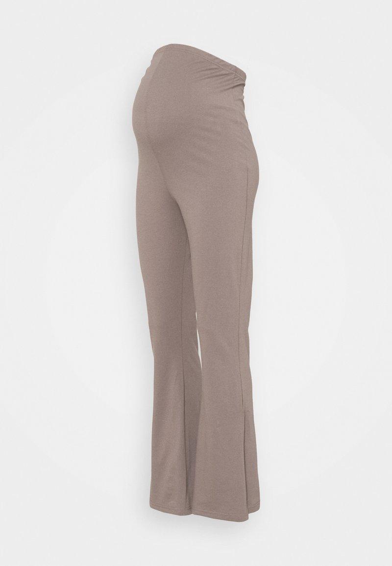 Missguided Maternity - SPLIT HEM FLARES - Trousers - brown