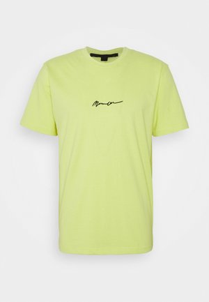UNISEX ESSENTIAL SIGNATURE - Basic T-shirt - neon yellow