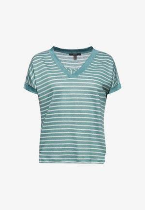 MIT STREIFEN - Print T-shirt - dark turquoise