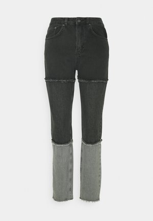 PANEL MOM FRAY SEAMS - Jeans a sigaretta - charcoal/grey