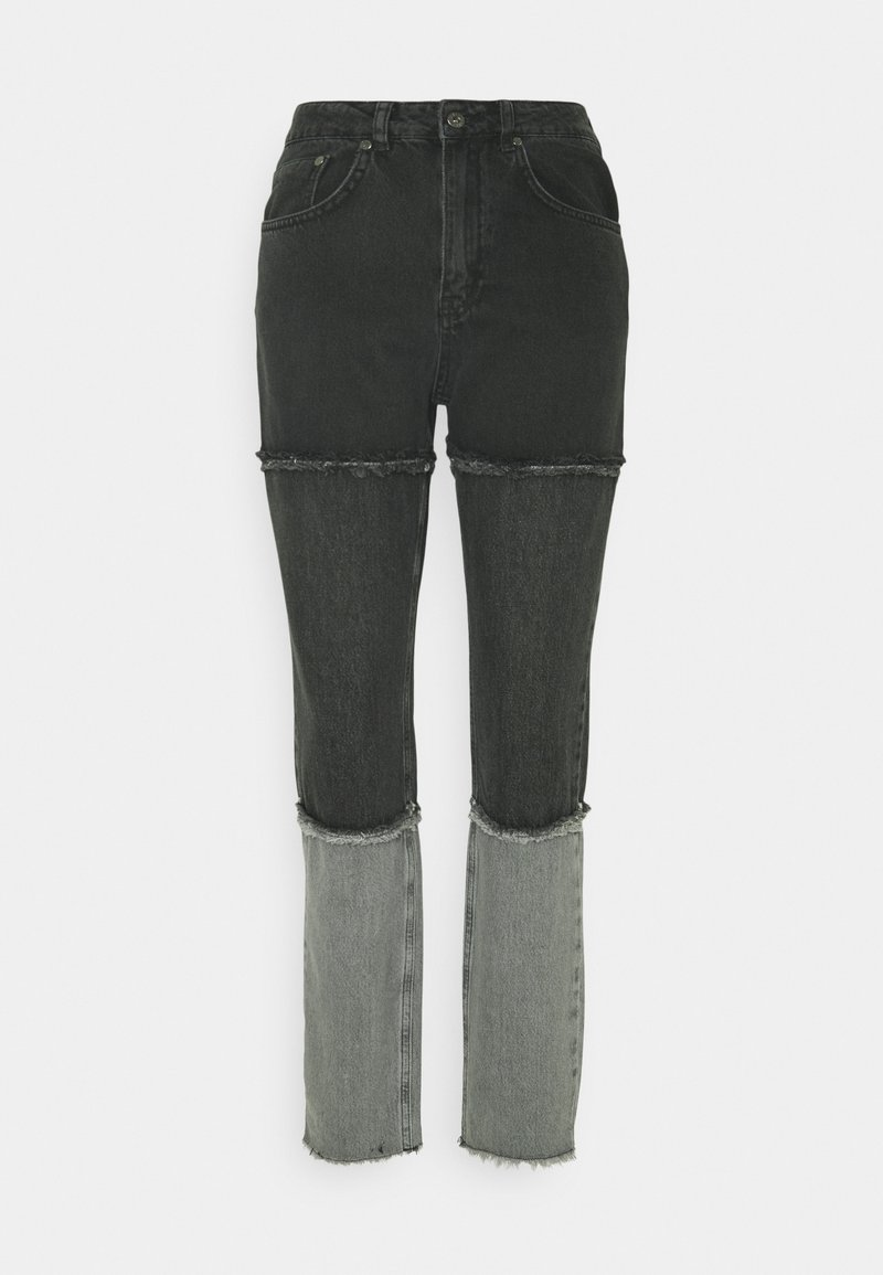 The Ragged Priest - PANEL MOM FRAY SEAMS - Straight leg jeans - charcoal/grey