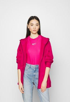 HOODY PLUS - Zip-up hoodie - fireberry/white