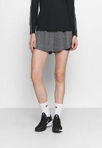 Nike Performance - SHORT - Sports shorts - black heather/black/white - 0