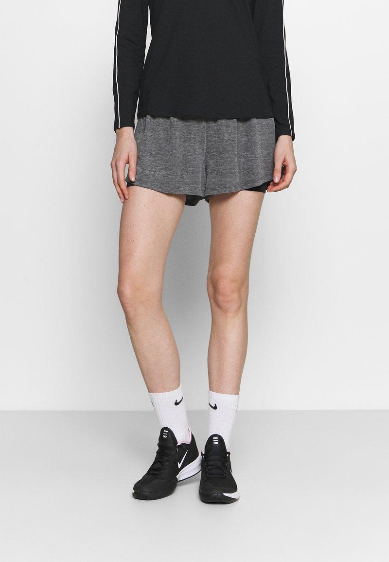 Nike Performance - SHORT - Sports shorts - black heather/black/white