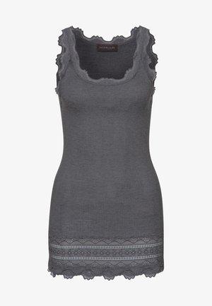 SILK TOP MEDIUM W/WIDE LACE - Top - dark grey