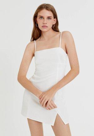 KURZES MIT RAFFUNGEN - Cocktail dress / Party dress - white