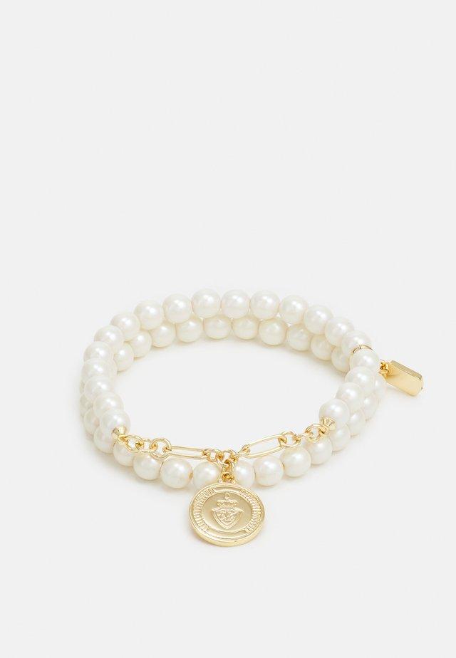 CREST PEARL STRETCH - Bracelet - white