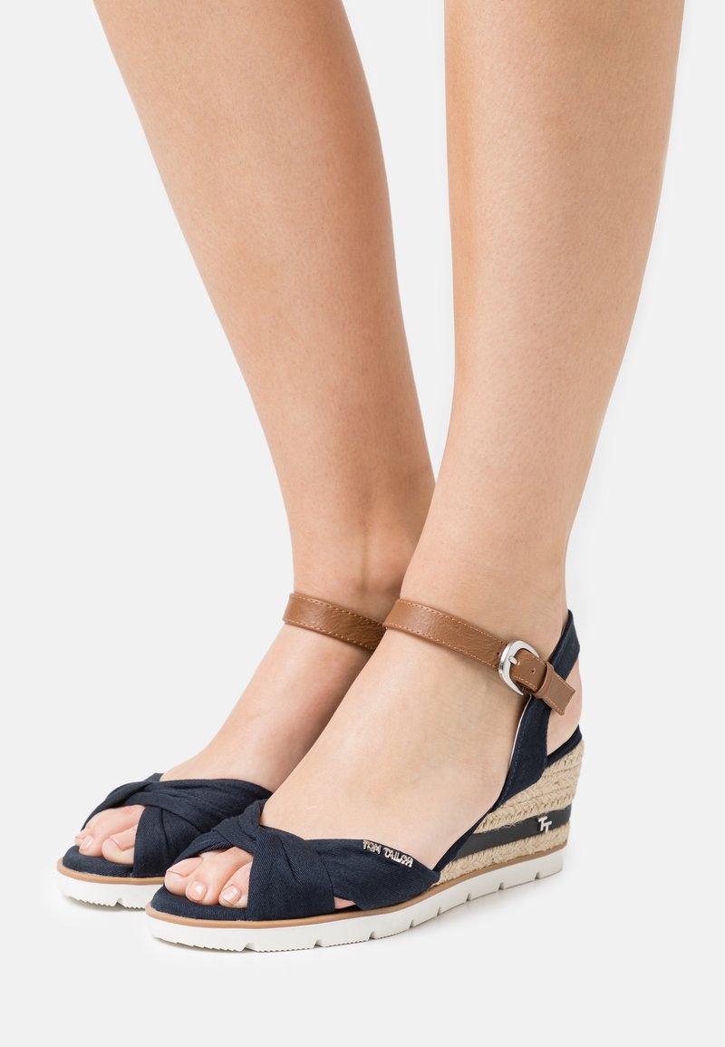 TOM TAILOR - Platform sandals - navy