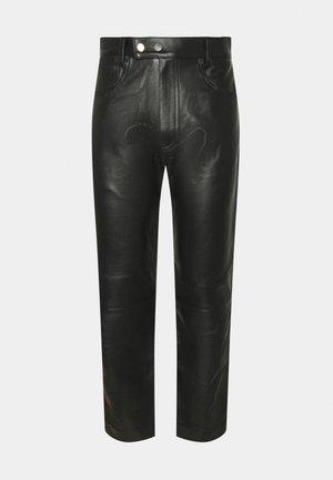 STUDIO PANTS - Leather trousers - black