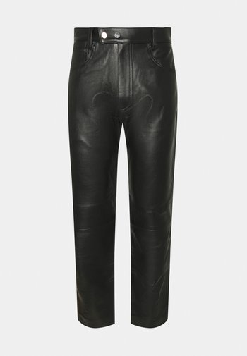 STUDIO PANTS - Kožené kalhoty - black