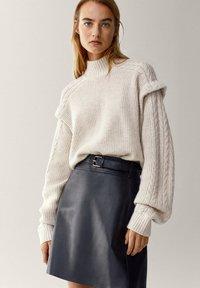 Massimo Dutti - A-line skirt - black - 2