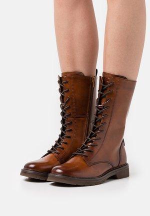 MODENA - Lace-up boots - cognac